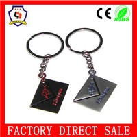 cheap wholesale alphabet letter design key chain /custom key ring with the fashion style from China(HH-key chain-307)