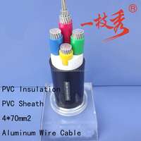 70mm 95mm 120mm2 Copper wire Flat steel wire PVC insulated Power Cable