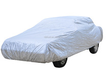 170T Silver Polyester Car Cover with Zipper Opening Shock ISO9001 Factory Price