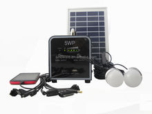 5W home solar led lighting system/Small solar lighting kits