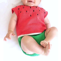PHB20560 watermelon design baby 2018 warm rompers