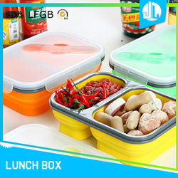 Professional manufacturer design cheap silicone rectangular lunch box