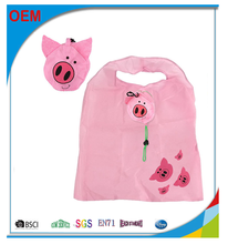 Fashionable Animal Foldable Shopping Bags,Bear Cat Pig Duck Panda Grocery Tote Bag,Cute Shopping Bag Foldable