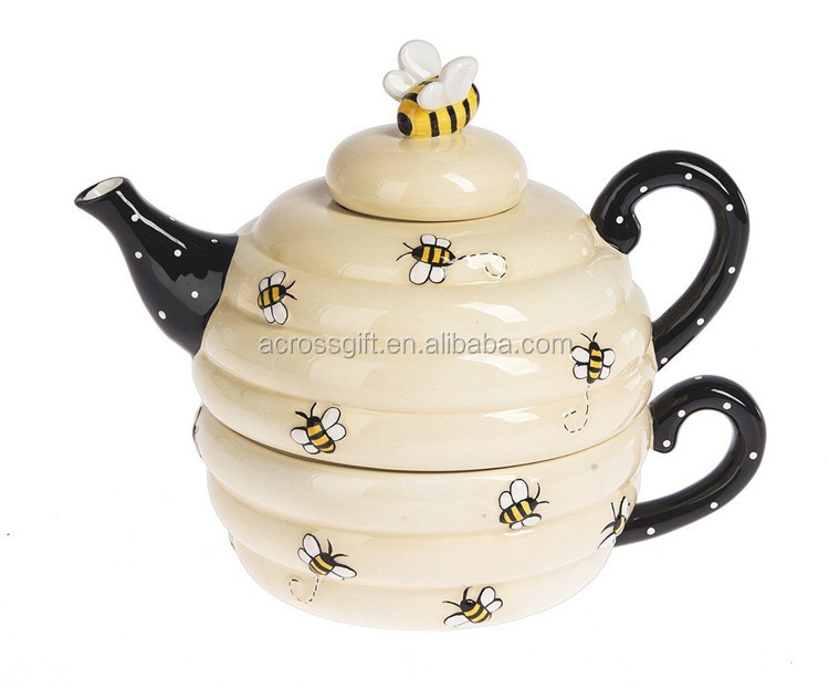 hot sale personalized handmade color glazed ceramic crystal tea set