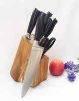 Coating handle stainless steel 7pcs knives for kitchen
