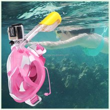 full face swiming driving snorkel mask for Gopro