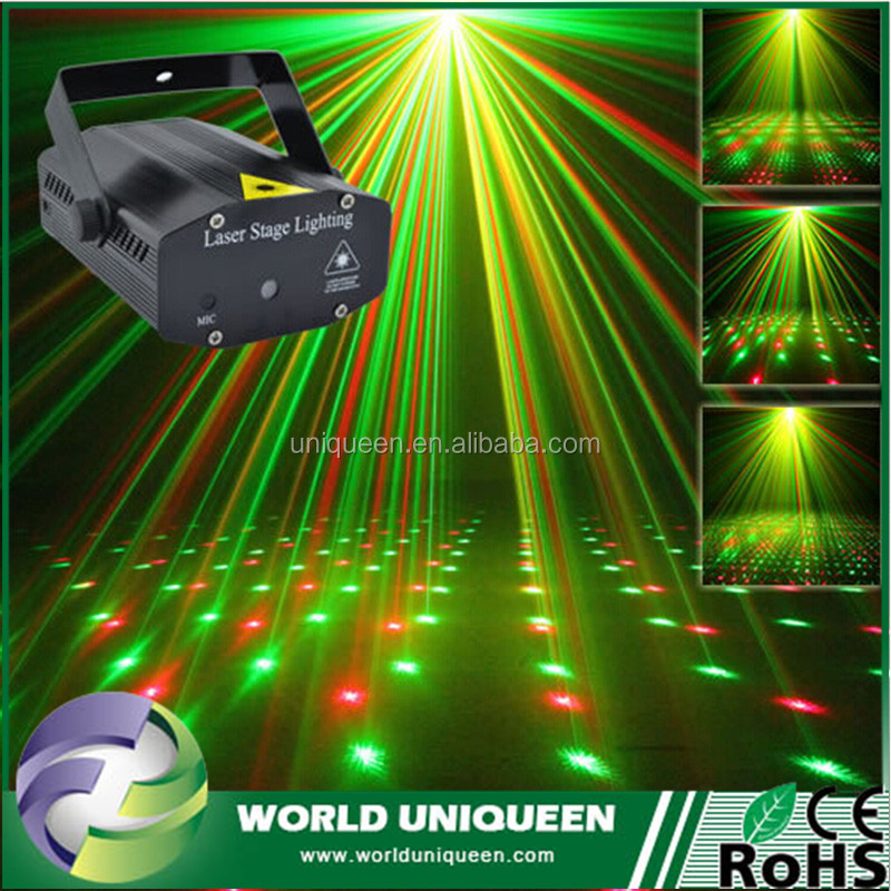 New Mini Portable 110-265V Red Green Laser Meteor Projector Lights DJ KTV Home Party Dsico Xmas LED Stage Lighting With Music