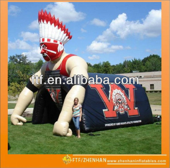 Hot sale inflatable warriors tunnel