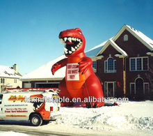 red giant inflatable dinosaur