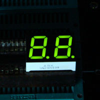 2 Digit LED 7 Segment Yellow Green 18 Pin Anode Numeric Displays RoHS