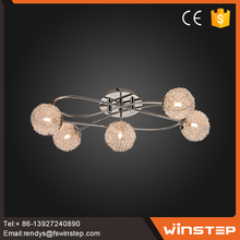 Home decorative 15W glass fancy light pendant designs for girls