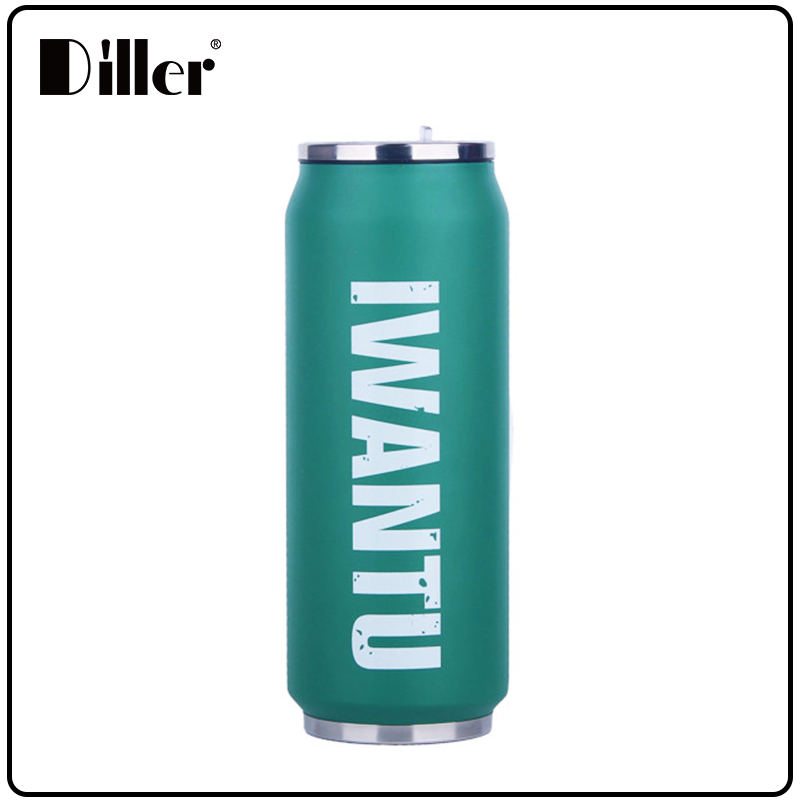 China factory low MOQ customized hot water bottle cola can stainless steel 304 thermos 350ML/500ML