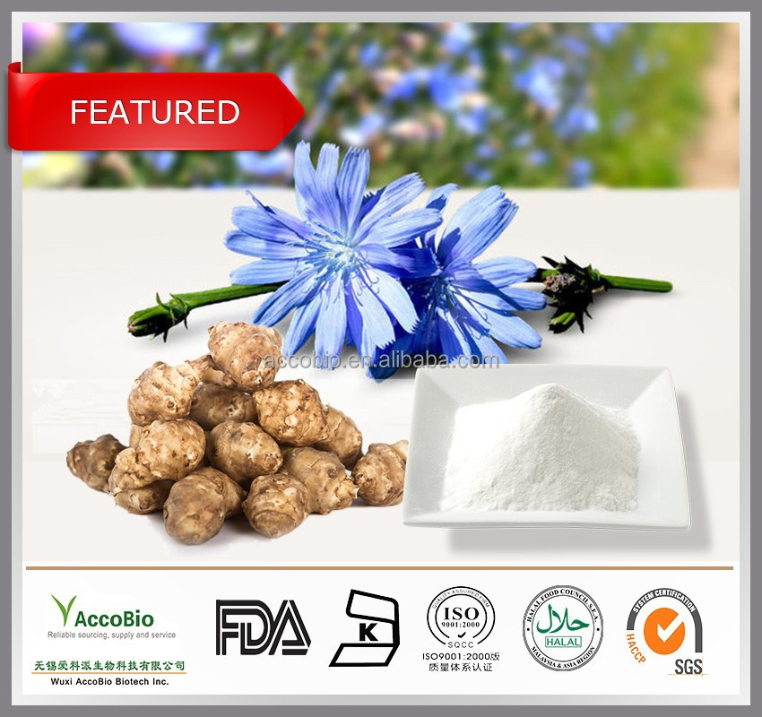 Natural Jerusalem artichoke extract Inulin 90% wholesale, Pure Inulin powder