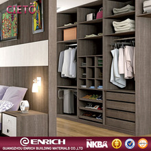 2017 modern simple closet wooden almirah designs in bedroom wall