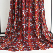 Hand painted flower digital printing chiffon stocklot fabric in china for dress