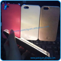 Mini Size Dimable led wooden cell phone case for iPhone 5 5S 6 6S plus for wholesales