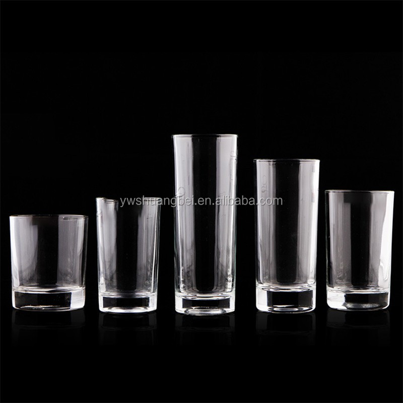 Clear glass tumbler transparent unbreakable juice glass cup