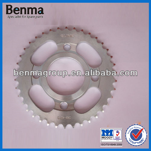 front motorcycle sprocket 1045,motorcycle zinc coated sprocket 428 38T,heat treatment sprocket motorcycle ,with OEM quality