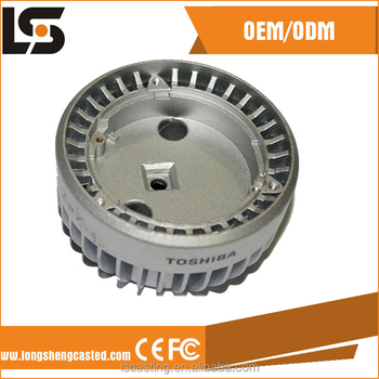 ISO9001 aluminum ADC12 die casting led street light spare parts in led street lighting line