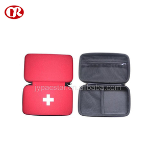 Portable and lightweight medical package case red color eva zipper bag