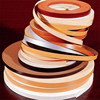 Decorative wood grain flexible plastic edge trim for paneling for furniture edge
