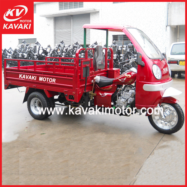 Chinese KAVAKI factory heavy load gasoline five wheel tricycle motorcycle bajaj for sale in africa