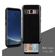 2017 Factory Mobile Phone Back Cover with Card Holder Phone Case for S8