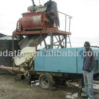 Trailer mounted concrete Pump HBT40