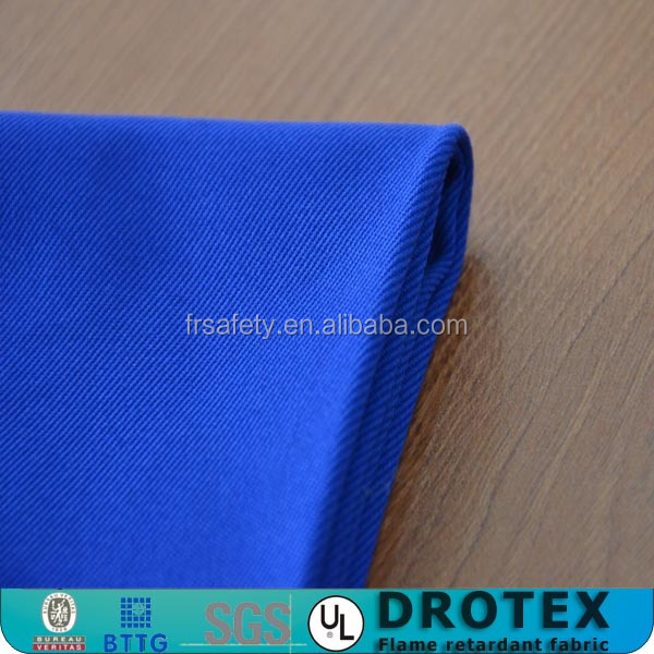 87%cotton/12%nylon/1%antistatic satin 4/1 flame retardant fabric fireproof oil water resistant satin fabric(SO)