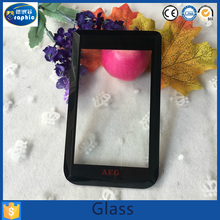 Custom capacitance touch sensitive screen one way glass with bevel edge