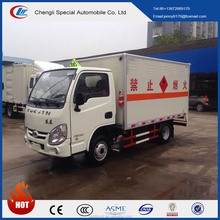iveco yuejin 6 Wheels van truck Dangerous goods transport truck aluminium alloy Explosion-proof van truck for sale