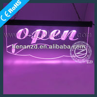 2013 New acrylic led open closed sign board