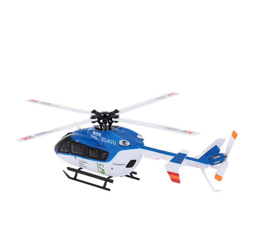 XK K124 RC Helicopters 6CH RC 3D Aerobatic Flybarless Helicopter RTF Brushless Set Quadcopter High Power Lipo Battery Drone Dron