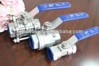 cast iron ball valve pn16 XT ball valve 3 ways carbon extermal thread ball valve
