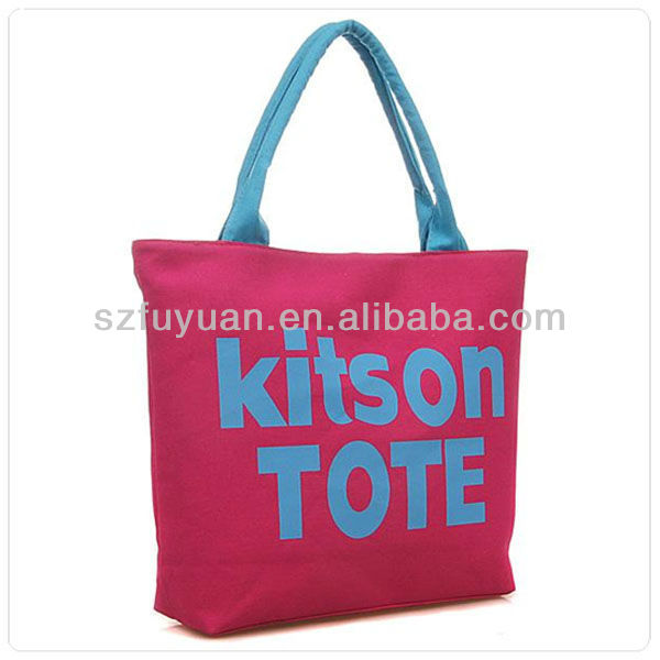 custom printed cotton canvas tote bag wholesale