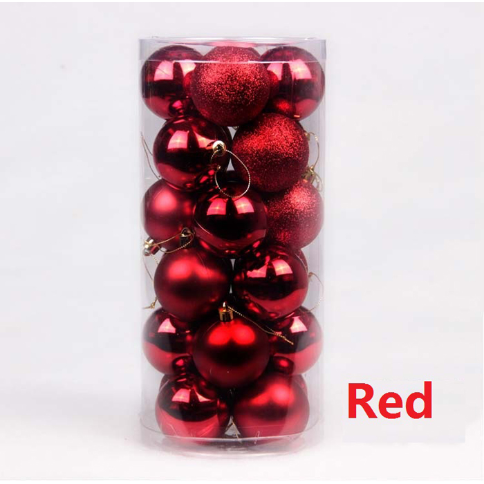 2017 Popular Hot Sale Factory Price Custom Red Christmas Ball Ornaments Plastic Christmas Ball
