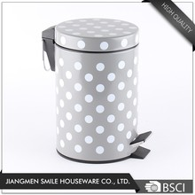 China products powder coating push foot step dustbin