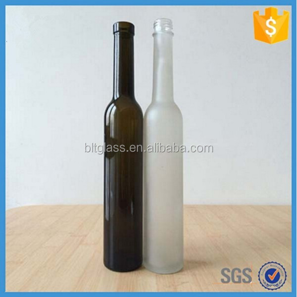 375ml Lone Neck Glass Bottle of Red Wine with cork stoppers