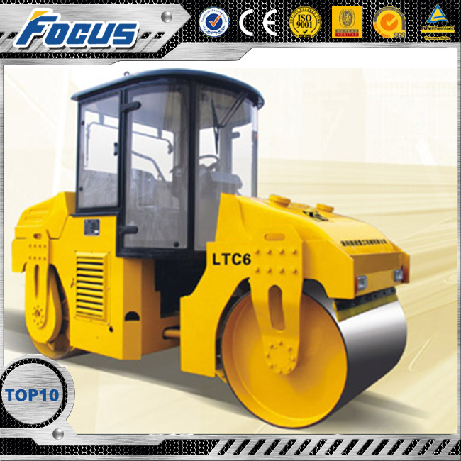 LTC6 2016 New design high quality small construction equipment,cylinder engines road rolle