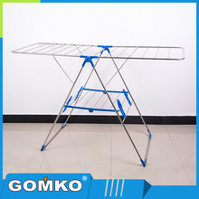 Indoor outdoor stainless steel laundry hanger rack folding portable cloth stand vertical adjustable clothes dryer price