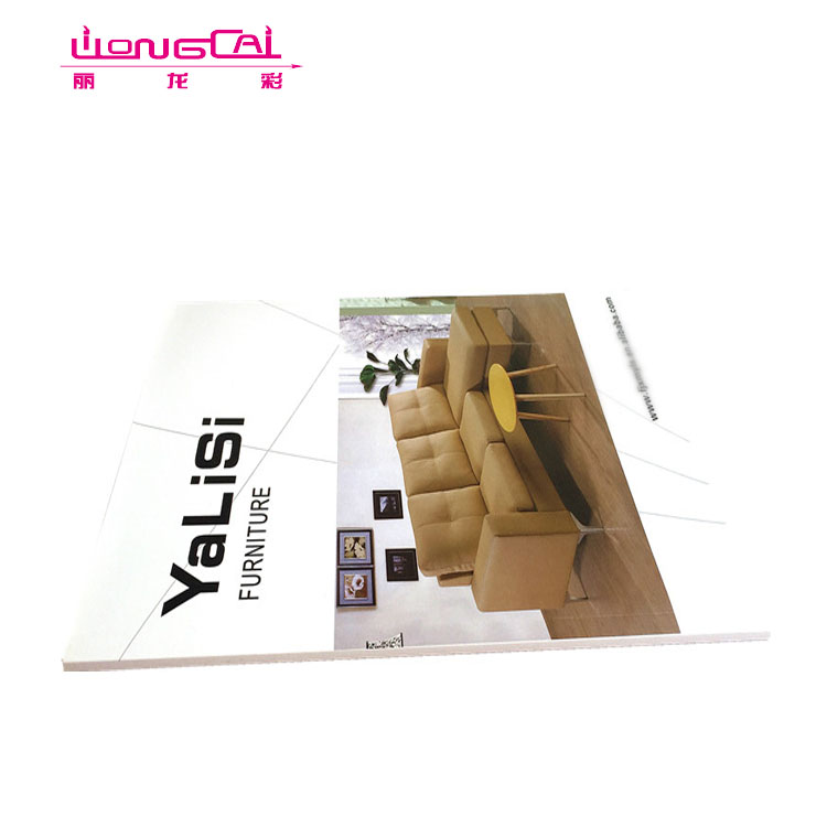 Custom printed softcover book/flyer/leaflet/catalogue printing for furniture