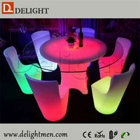Low price color changing illuminated remote control multi color led light round table