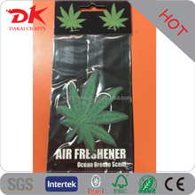 Custom fresh car air fresheners hemp paper