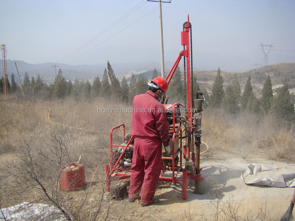 HY-40F Hydraulic Top Drive Man Portable Drill Rig (new generation)
