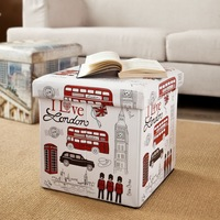 Custom Lightweight Polyester Foldable Storage Ottoman