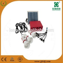 Mini Solar Home Light System with 4W Solar Panel and 3W LED Light