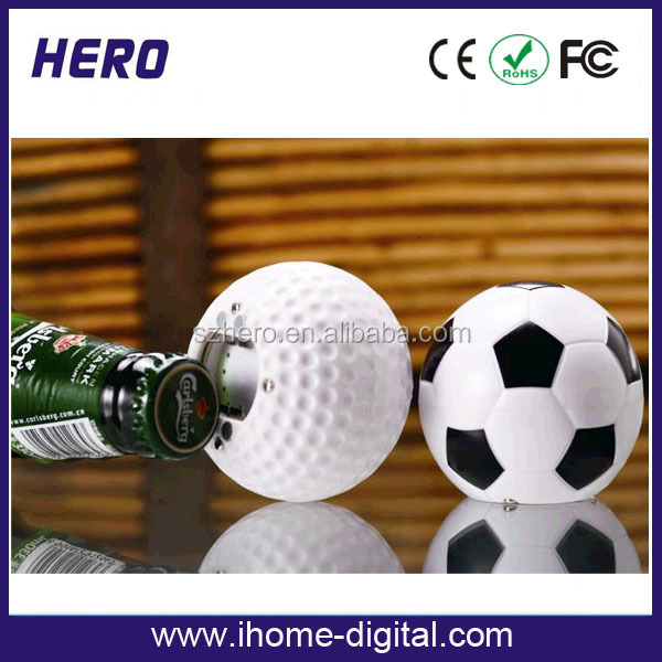 New design cheaper football shaped sound beer soccer bottle opener for 2014 brazil world cup promotion gifts
