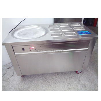 Commercial thailand fry manual fried/roll fried ice cream machine
