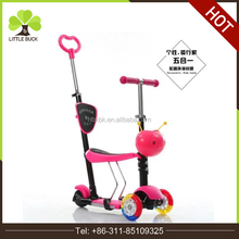 China cheap Fashion Design hot sale 5 in 1 3 wheel kids scooter