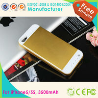 New 3500mAh External Battery Backup Charger Power Bank Pack Case For iPhone 5